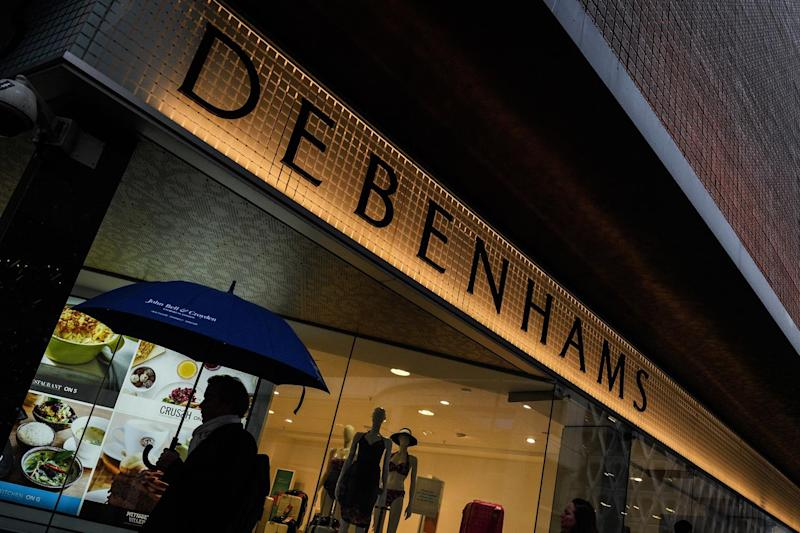 Debenhams' shares were trading at 15.77p a share at one point, a record low over the past five years: Getty Images
