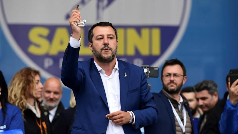 Cheers and jeers as Europe's far-right rallies in Milan