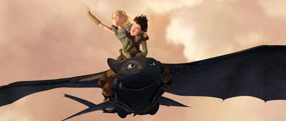 """<p><strong>Amazon's Description:</strong> """"Hiccup is a young Viking who defies convention when he befriends one of his deadliest foes -- a ferocious dragon he calls Toothless. But humans and dragons are supposed to be mortal enemies, not buddies, and this unlikely pair must overcome many obstacles and one ultimate challenge - to save both their worlds.""""</p> <p><a href=""""https://www.amazon.com/gp/video/detail/B079J5MNNM"""" class=""""link rapid-noclick-resp"""" rel=""""nofollow noopener"""" target=""""_blank"""" data-ylk=""""slk:Watch How to Train Your Dragon on Amazon Prime Video here!"""">Watch <strong>How to Train Your Dragon</strong> on Amazon Prime Video here!</a></p>"""