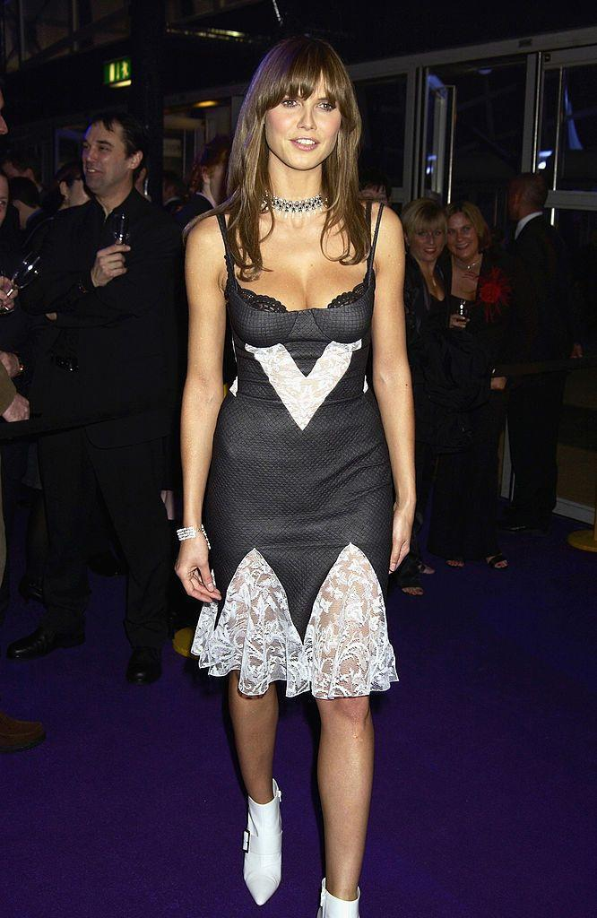 <p>The model and TV host wore a slip dress when she attended the celebration of British music in the early noughties.</p>