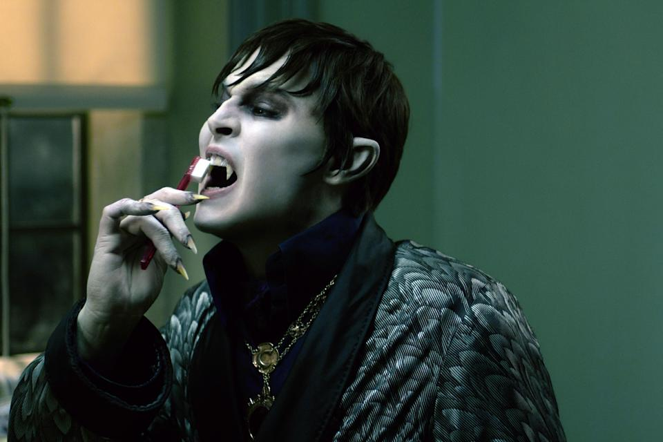 "<p>You can never go wrong with a Tim Burton film around Halloween. <em>Dark Shadows</em> is his take on the vampire genre—in it, Johnny Depp plays a vampire who has been entombed for hundreds of years. He's finally released in the 1970s and must adjust to the new world around him.</p> <p><a href=""https://www.amazon.com/gp/video/detail/B009KHBDUU/ref=atv_dl_rdr"" rel=""nofollow noopener"" target=""_blank"" data-ylk=""slk:Available to rent on Amazon Prime Video"" class=""link rapid-noclick-resp""><em>Available to rent on Amazon Prime Video</em></a></p>"