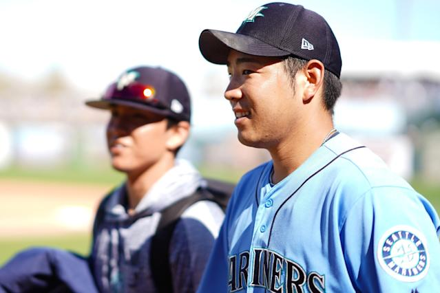 Rookie pitcher Yusei Kikuchi should be treated as a top-40 fantasy starter. (Getty Images)