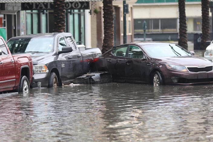 A flooded area is seen in New Orleans, Louisiana, July 10, 2019 in this image obtained from social media. (Photo: Brent Pearson/Reuters)