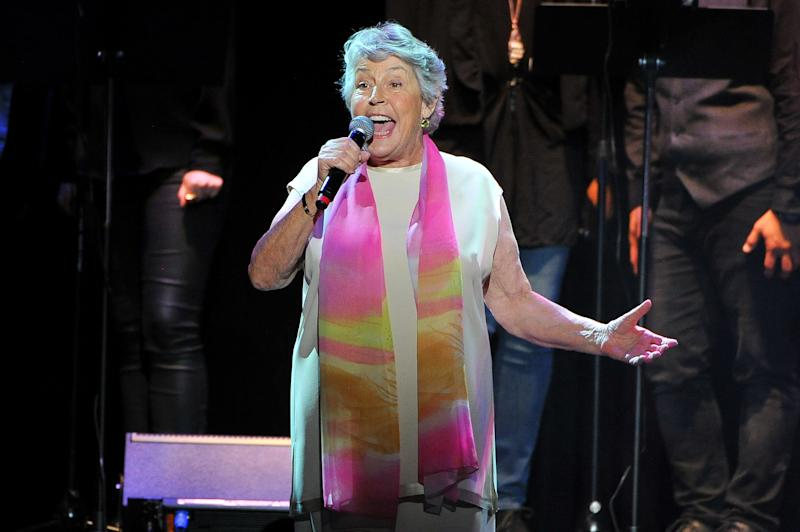 LOS ANGELES, CA - MAY 24: Singer Helen Reddy performs onstage during the Concert for America: Stand Up, Sing Out! at Royce Hall on May 24, 2017 in Los Angeles, California. (Photo by Allen Berezovsky/Getty Images,)