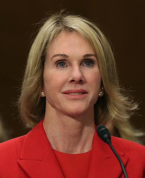 "Kelly Knight Craft, who has been nominated to be the next US ambassador to the United Nations, raised eyebrows when she declared that she believed ""both sides"" on climate science (AFP Photo/MARK WILSON)"