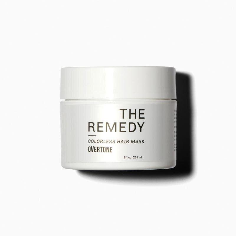 """Overtone's The Remedy hair mask infuses moisture and repairs damage, and comes in a wide variety of colors to maintain your shade. Find it for $27 at <a href=""""https://fave.co/2QQbgQV"""" target=""""_blank"""" rel=""""noopener noreferrer"""">Overtone</a>."""