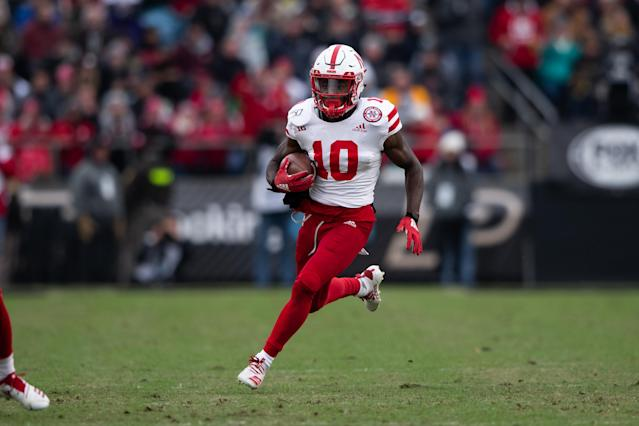 JD Spielman leaves Nebraska at No. 3 in program history in both receptions and receiving yards. (Photo by Zach Bolinger/Icon Sportswire via Getty Images)