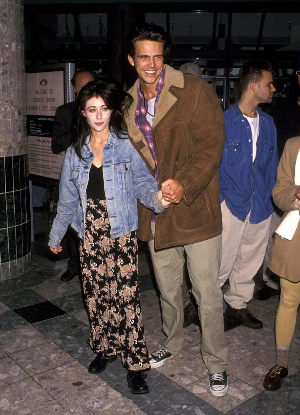 <p>The marriage of <em>90210</em> star Shannen and Ashley (son of George Hamilton) would have fit right in during 2018's Summer of Quick Love™ (see: Nick Jonas and Priyanka Chopra, Hailey Baldwin and Justin Bieber, and Ariana Grande and Pete Davidson). Shannen and Ashley tied the knot after only two weeks of dating in 1994 but divorced five months later.</p>