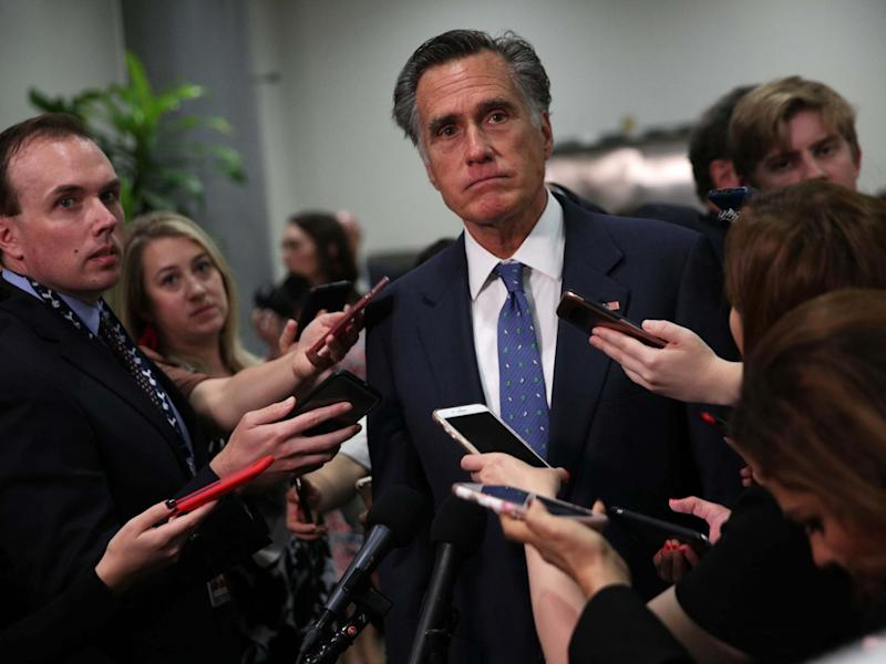 "Senator Mitt Romney has slammed Donald Trump for saying that he would accept dirt on a political opponent from a foreign government, saying the president's remarks are ""simply unthinkable.""Mr Romney, who was the 2012 Republican nominee for president before winning his Senate seat last year, said during an impromptu interview with reporters that he would contact the FBI immediately if a foreign government approached him in that way.""I ran for president twice. I ran for governor once. I ran for Senate twice,"" Mr Romney said. ""I've never had any attempt made by a foreign government. … Had that occurred, I would've contacted the FBI immediately.""Mr Trump has found himself under fire for his comments on the matter, which were made during an interview with ABC News.Following after repeated criticism of officials with his 2016 campaign pursuing offers for dirt from Russia during that election, Mr Trump suggested that there is nothing wrong with the practice.> Sen. Mitt Romney says it's ""simply unthinkable"" to accept foreign dirt on rivals: ""I ran for president twice. I ran for governor once. I ran for Senate twice. I've never had any attempt made by a foreign government. ... Had that occurred I would've contacted the FBI immediately"" pic.twitter.com/aL2v5Wfpzs> > — CNN Politics (@CNNPolitics) > > June 13, 2019"