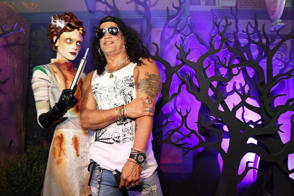<p>practically living up to his nickname at opening night of Halloween Horror Nights at Universal Studios Hollywood on Sept. 9.</p>