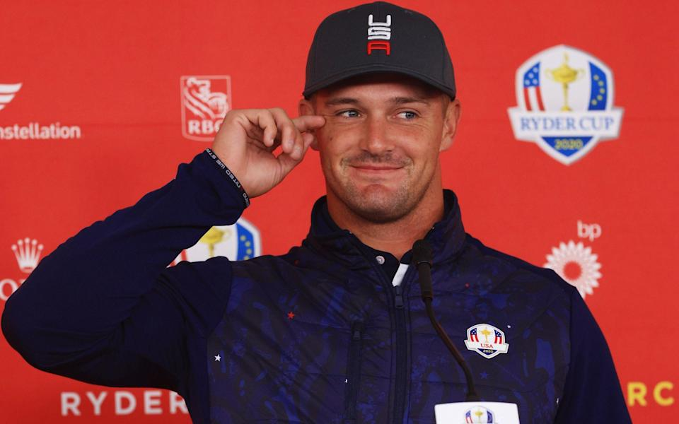 Bryson DeChambeau at his Ryder Cup press conference - GETTY IMAGES