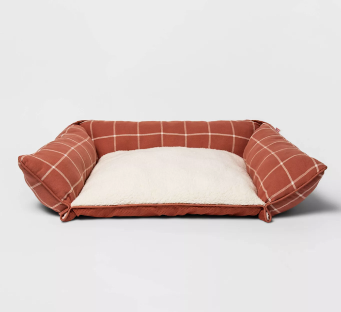 "$30, Target. <a href=""https://www.target.com/p/rectangular-pillow-couch-plaid-dog-bed-m-boots-38-barkley-8482/-/A-79416515"" rel=""nofollow noopener"" target=""_blank"" data-ylk=""slk:Get it now!"" class=""link rapid-noclick-resp"">Get it now!</a>"