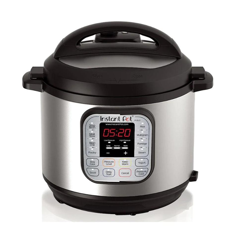 "<p>If you ask us, the Instant Pot is the must-have kitchen appliance of 2018. Cook rice, slow cook brisket or steam veggies with this multi-use pressure cooker and you only get a fraction of the seven functions it boasts. The versatile pot is available in 3-, 6- and 8-quarts, so there's an option for every budget and kitchen.<br><strong><a href=""https://fave.co/2Q6D6Jq"" rel=""nofollow noopener"" target=""_blank"" data-ylk=""slk:SHOP IT"" class=""link rapid-noclick-resp"">SHOP IT</a>:</strong> $90 to $160 (was $100-$170), <a href=""https://fave.co/2Q6D6Jq"" rel=""nofollow noopener"" target=""_blank"" data-ylk=""slk:kohls.com"" class=""link rapid-noclick-resp"">kohls.com</a> </p>"