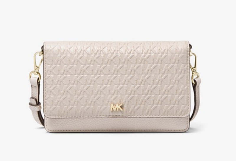 Logo Debossed Leather Convertible Crossbody Bag. (PHOTO: Michael Kors)