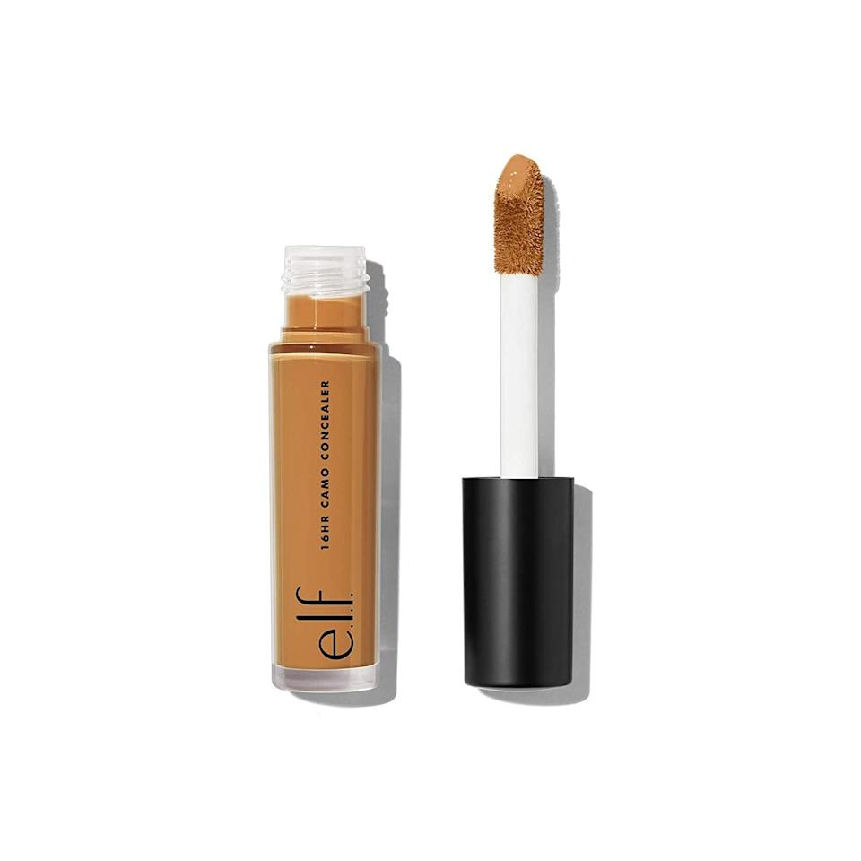 """<p>The <span>e.l.f. 16HR Camo Concealer</span> ($5) is a full coverage and highly pigmented formula that will cover and conceal everything from blemishes to hyperpigmentation. And, it's long-lasting!</p> <p><strong>Customer Review:</strong> """"This is a good budget friendly product and its full coverage. This can stand against the high end products. I just love how it blends perfectly and gives me a glow. Get it, you won't me disappointed. Value for your buck.""""</p>"""
