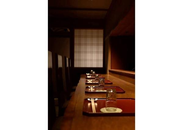 ▲The counter seats. Enjoy your meal in this calm, quiet space