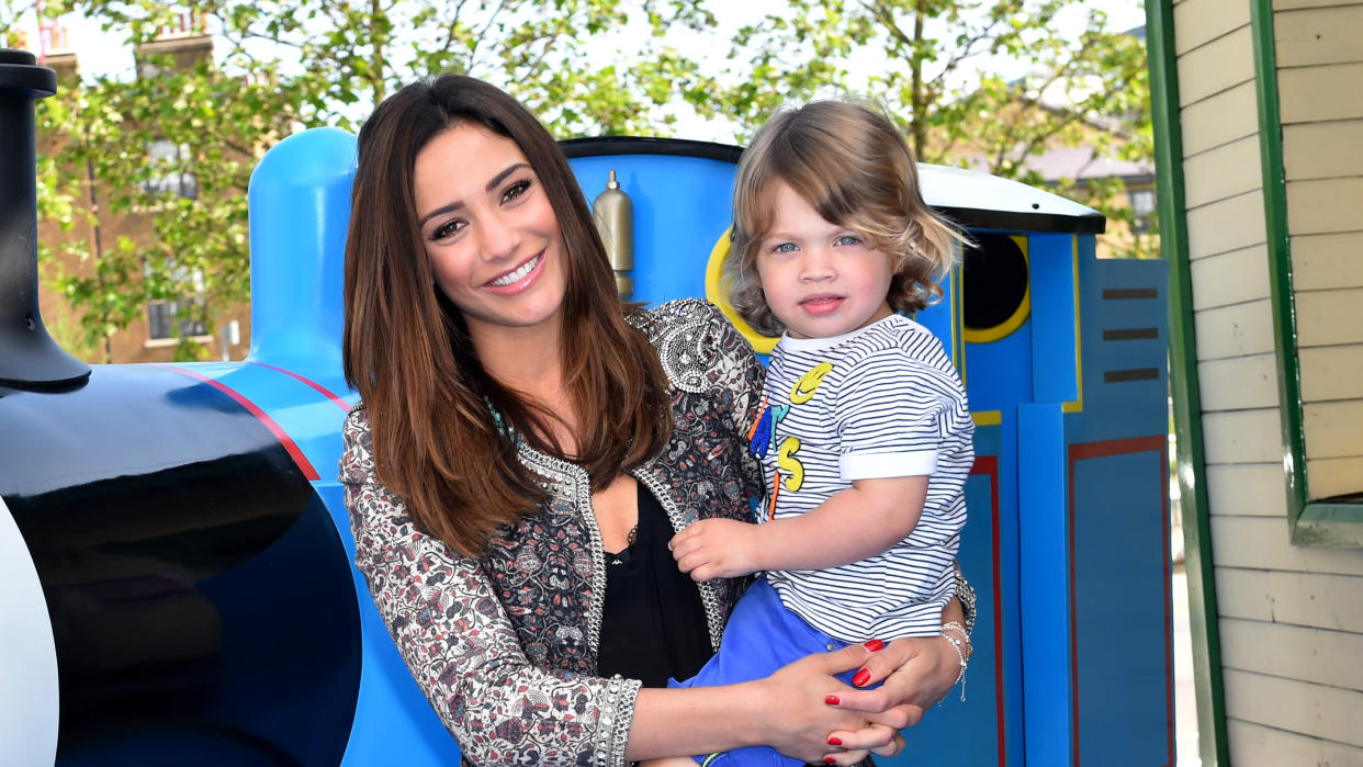 Frankie Bridge worried what would happen to her son Parker if she and Wayne were no longer around. (PA)