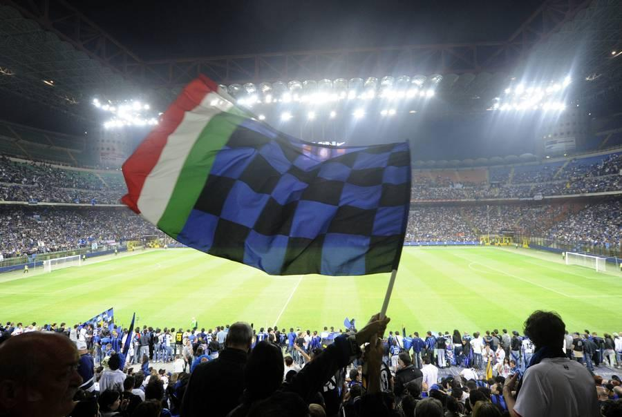 Inter Milan's supporters celebrate at S