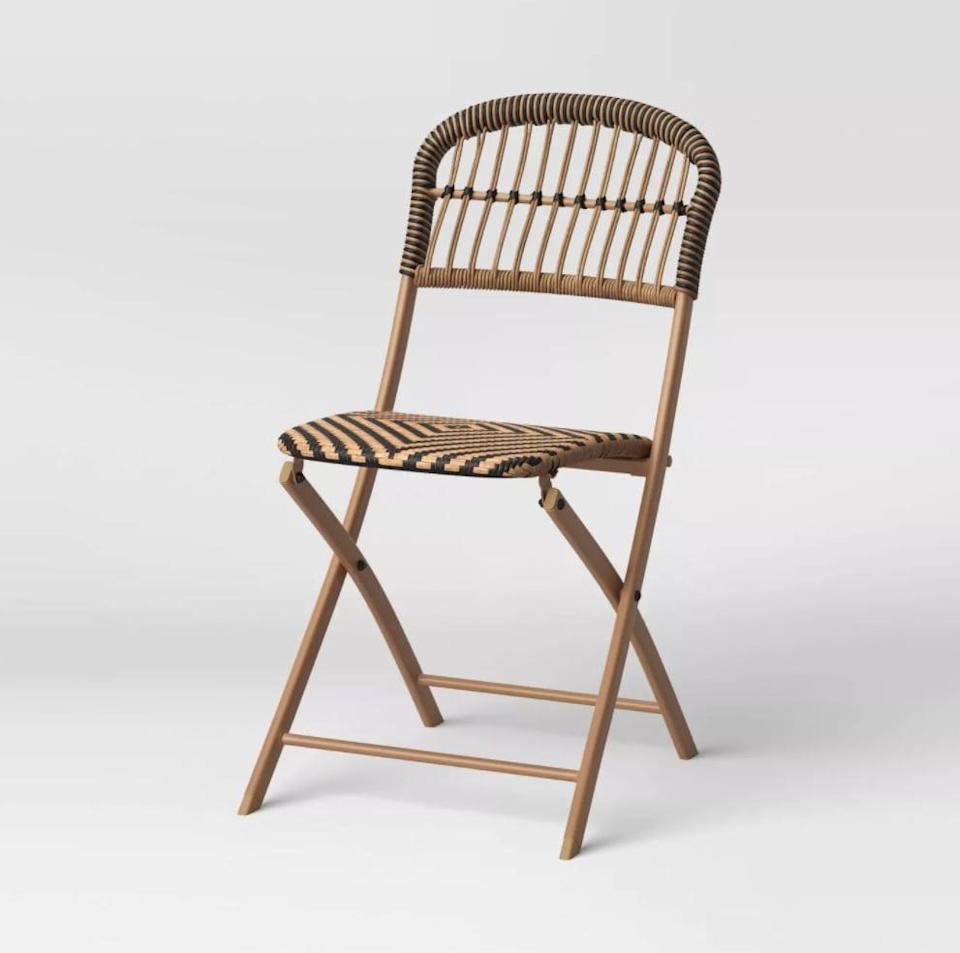 <p>This <span>Opalhouse Aster Folding Patio Chair</span> ($51, originally $60) will add classic elegance to your space.</p>