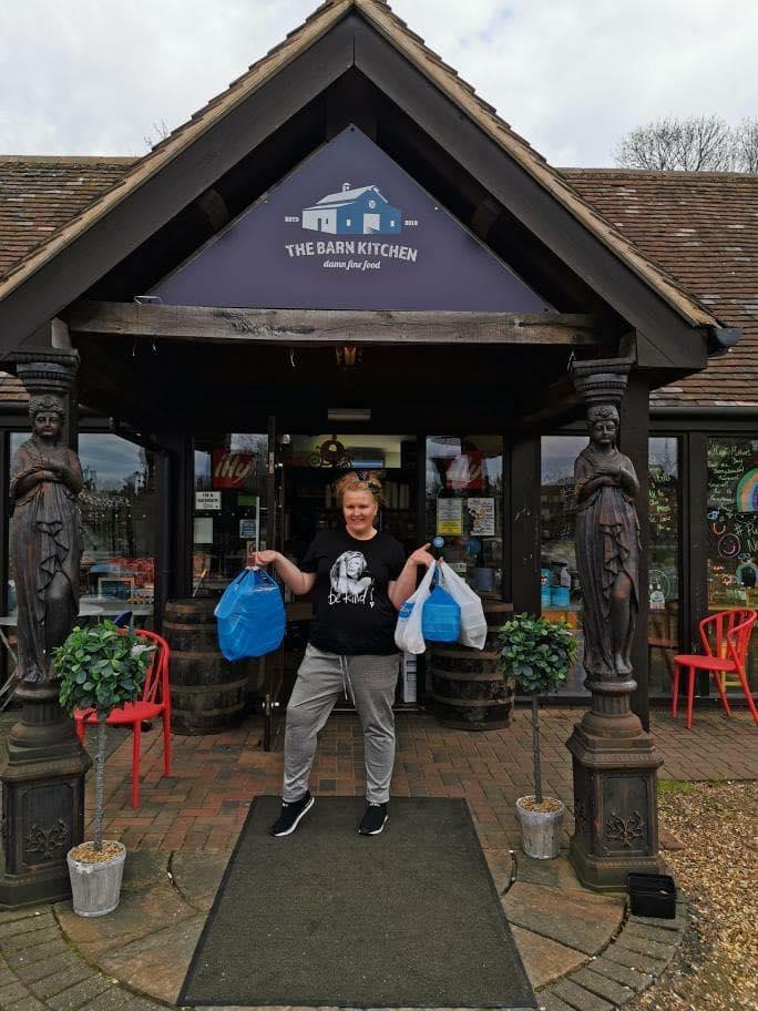 Kelly Iles at The Barn Kitchen in Binley Woods, near Coventry, has been cooking meals and snacks for NHS doctors, nurses and other workers in the area. (Picture: The Barn Kitchen)