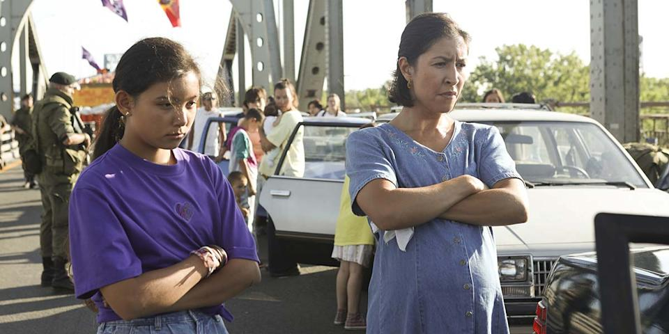 "Kiawentiio and Rainbow Dickerson in Tracey Deer's film ""Beans."" (Courtesy of TIFF)"