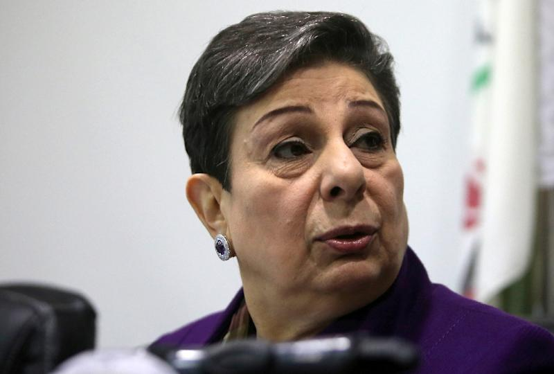 Senior official Hanan Ashrawi said the Palestinian leadership is weighing retaliatory measures to US penalties