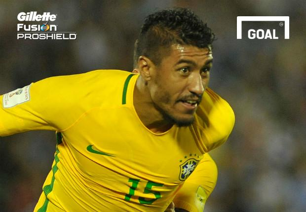 While the Guangzhou Evergrande midfielder's hat-trick stole the headlines, his stunning equaliser was the crown jewel in Brazil's win over Uruguay...