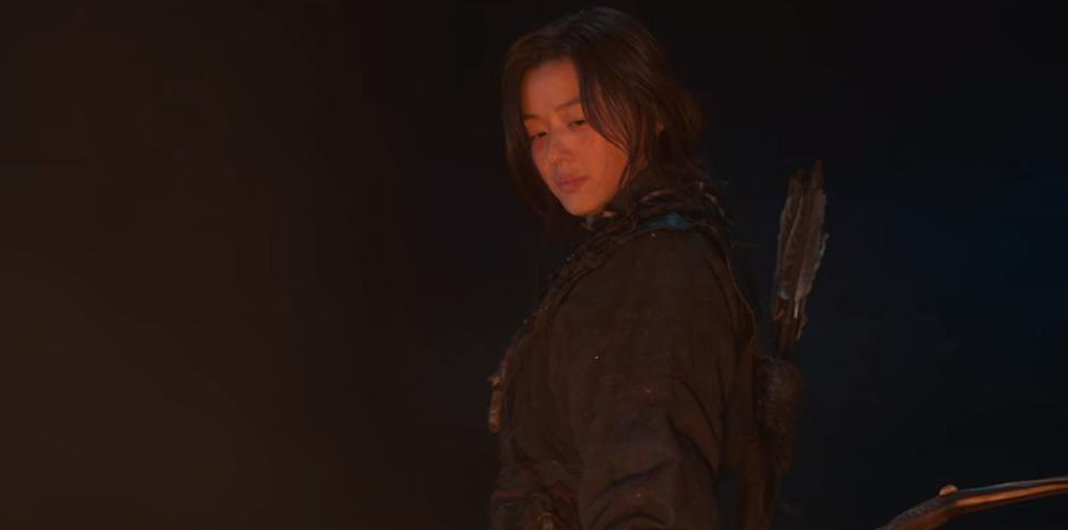 Ashin (Jun Ji Hyun) is a vengeful slave turned archer in the special episode of Kingdom: Ashin of the North