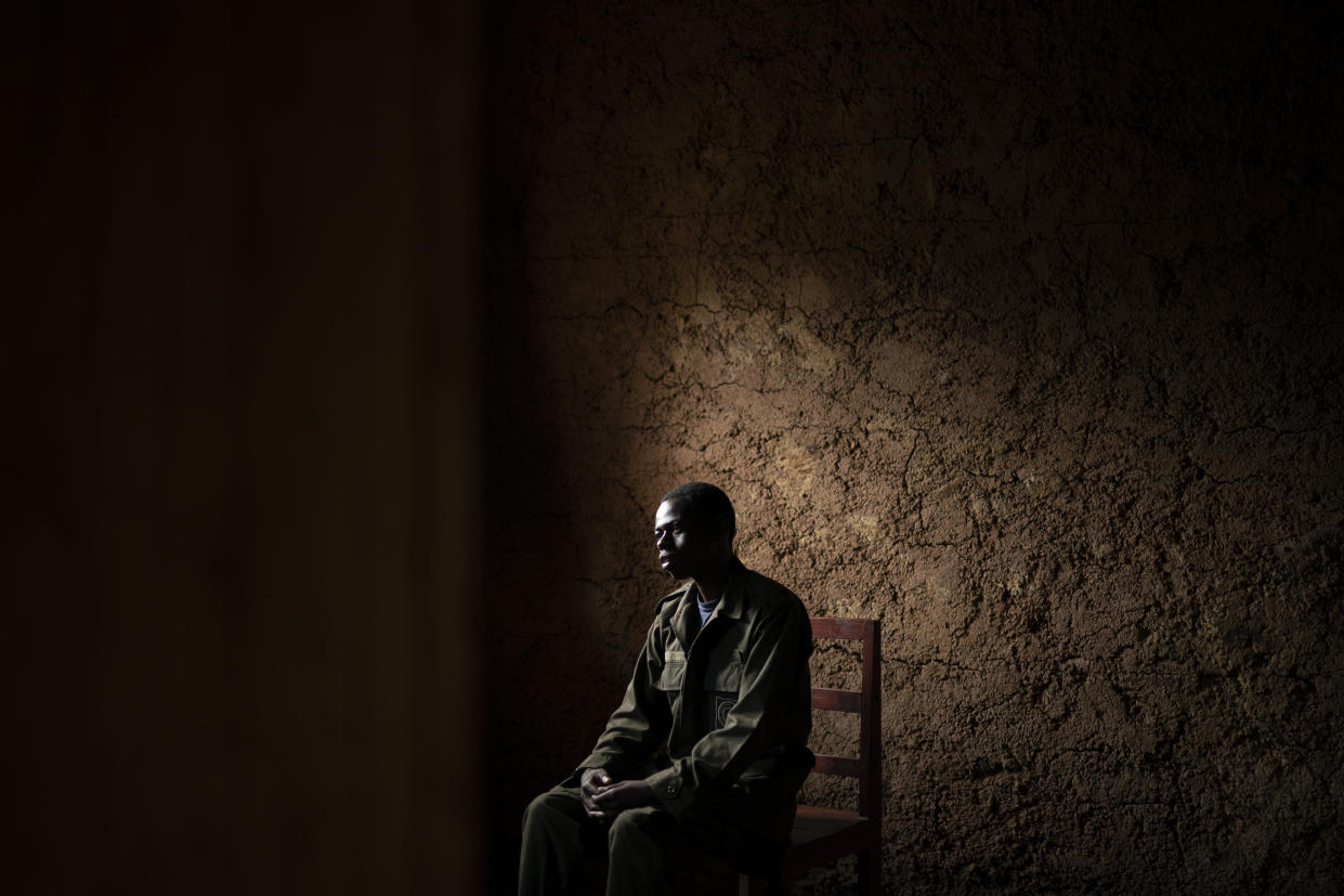 Jean Claude Masengesho sits in his house during an interview in Kinigi, Rwanda. (Photo: Felipe Dana/AP)