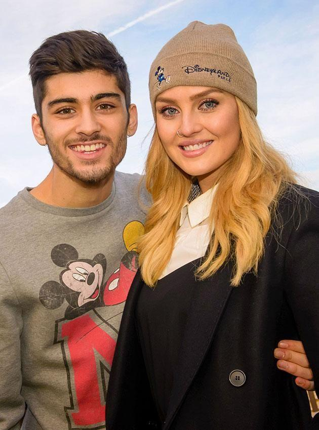 Zayn and Perrie in happier times. Source: Splash