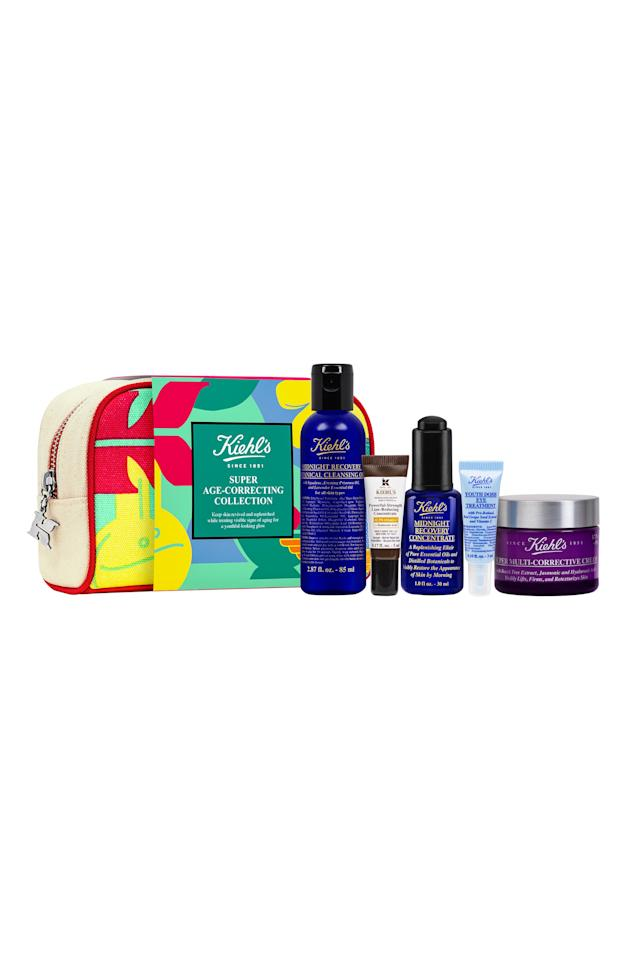 "<p><strong>KIEHL'S SINCE 1851</strong></p><p>nordstrom.com</p><p><strong>$92.00</strong></p><p><a href=""https://go.redirectingat.com?id=74968X1596630&url=https%3A%2F%2Fshop.nordstrom.com%2Fs%2Fkiehls-since-1851-super-age-correcting-collection-142-value%2F5261573&sref=http%3A%2F%2Fwww.prevention.com%2Fbeauty%2Fg28424200%2Fnordstroms-early-access-anniversary-sale-skincare-deals%2F"" target=""_blank"">SHOP NOW</a></p><p>They don't make 'em better than Kiehl's. This total steal of a set includes their fan-favorite Midnight Recovery Concentrate, a hydrating nighttime oil that contains squalene, lavender, and primrose oil to <strong>boost radiance and fight uneven texture</strong>. Plus, you'll snag a botanical cleansing oil to remove oil and makeup, a line-reducing concentrate to target premature wrinkles, an eye treatment to smooth and brighten, as well as their Multi-Corrective Cream which targets sagging for youthful-looking skin.</p>"