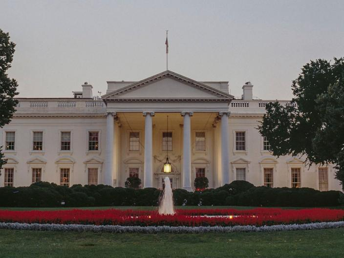 "The White House is pictured in 2018. <p class=""copyright""><a href=""https://www.gettyimages.com/detail/news-photo/north-facade-of-the-white-house-by-james-hoban-washington-news-photo/1096028272?adppopup=true"" rel=""nofollow noopener"" target=""_blank"" data-ylk=""slk:DEA/M. BORCHI/Getty"" class=""link rapid-noclick-resp"">DEA/M. BORCHI/Getty</a></p>"