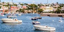 """<p>The tiny island of <a href=""""https://www.bestproducts.com/fun-things-to-do/g3123/best-bermuda-hotels/"""" rel=""""nofollow noopener"""" target=""""_blank"""" data-ylk=""""slk:Bermuda"""" class=""""link rapid-noclick-resp"""">Bermuda</a>, off the coast of North Carolina, is known for its pastel buildings, golf courses, and pink-sand beaches, including its most photographed strand <a href=""""https://www.tripadvisor.com/Attraction_Review-g147261-d147919-Reviews-Horseshoe_Bay_Beach-Southampton_Parish_Bermuda.html"""" rel=""""nofollow noopener"""" target=""""_blank"""" data-ylk=""""slk:Horseshoe Bay"""" class=""""link rapid-noclick-resp"""">Horseshoe Bay</a>. Expect bathtub-warm turquoise water and pink-hued sand at this crescent-shaped beauty. Its main city of Hamilton has historic buildings and cute bars where you can sit and sip a dark and stormy.</p>"""