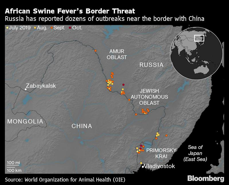 Is China Exporting African Swine Fever to Russia?