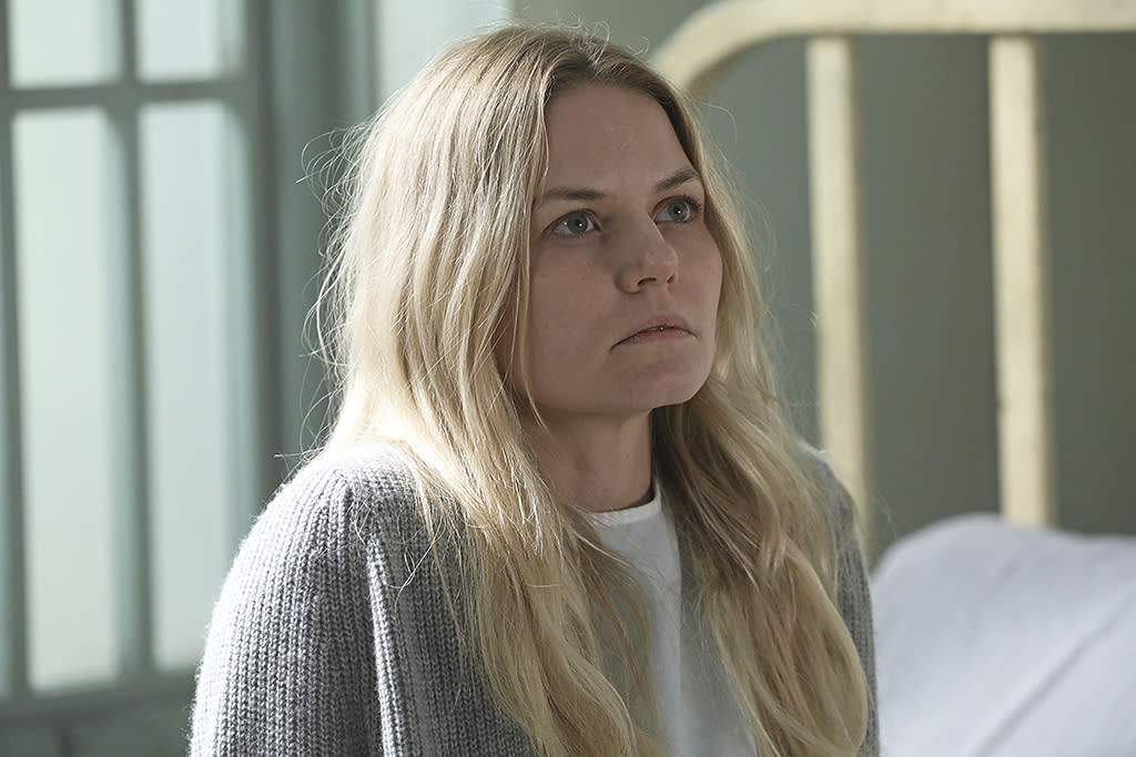 <p>Jennifer Morrison as Emma Swan in ABC's <i>Once Upon a Time</i>.<br /><br />(Photo: Jack Rowand/ABC) </p>