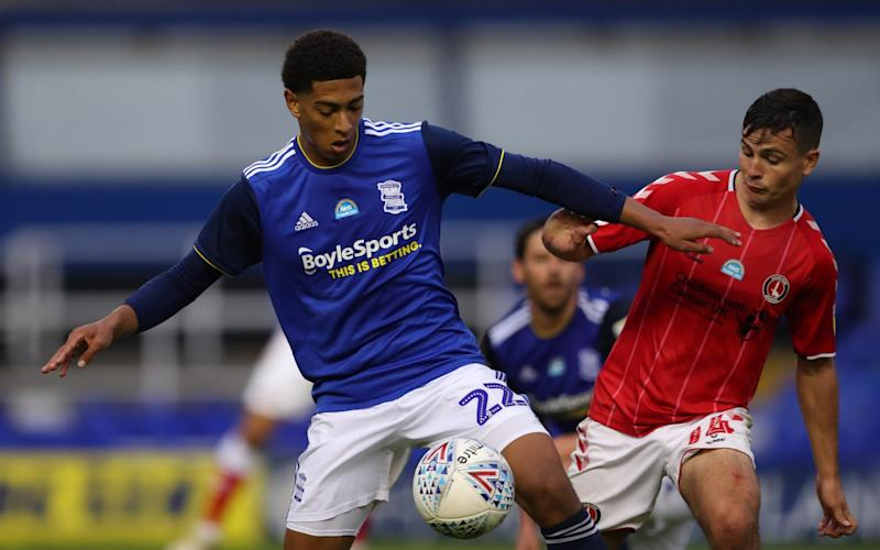 Jude Bellingham (left) in action against Charlton - GETTY IMAGES
