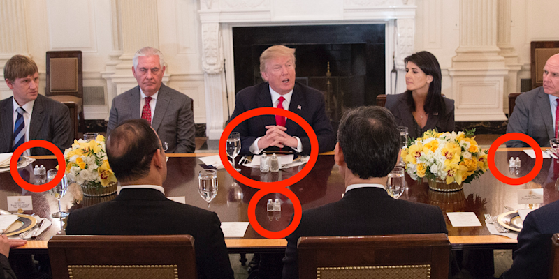 President Donald J. Trump speaks during a lunch with the United Nations Security Council on January 29, 2018 at The White House in Washington, DC.