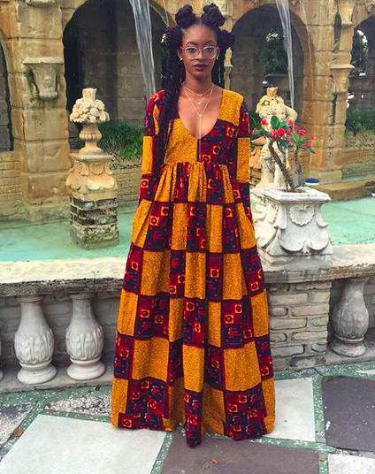 African Print Prom Dress