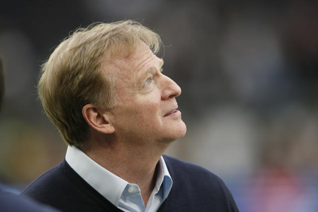 "NFL commissioner Roger Goodell has been candid about the league's drop in number of minority head coaches and general managers. ""Clearly, we are not where we want to be,"" Goodell said earlier this year. (AP Photo/Tim Ireland)"