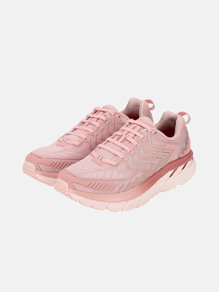 "<p>The <a href=""https://www.popsugar.com/buy/Hoka-One-One-OV-Clifton-503502?p_name=Hoka%20One%20One%20OV%20Clifton&retailer=outdoorvoices.com&pid=503502&price=140&evar1=fit%3Auk&evar9=45595071&evar98=https%3A%2F%2Fwww.popsugar.com%2Ffitness%2Fphoto-gallery%2F45595071%2Fimage%2F46869238%2FHoka-One-One-OV-Clifton&list1=shopping%2Csneakers%2Crunning%20shoes%2Cgift%20guide%2Cfitness%20gear&prop13=api&pdata=1"" rel=""nofollow"" data-shoppable-link=""1"" target=""_blank"" class=""ga-track"" data-ga-category=""Related"" data-ga-label=""https://www.outdoorvoices.com/products/ov-x-hoka-womens-clifton-6?variant=29599124717646&amp;size=1"" data-ga-action=""In-Line Links"">Hoka One One OV Clifton</a> ($140) is like walking on a cloud. If extreme cushioning is your vibe, you'll never wear another shoe.</p>"