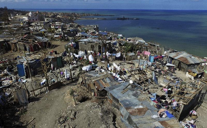 Hurricane Matthew struck southern Haiti some three weeks ago, killing at least 546 people and leaving 175,000 without homes (AFP Photo/Nicolas Garcia)