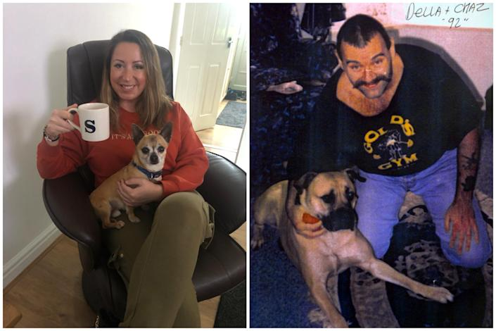 Paula Williamson, left, married Charles Bronson, right, in 2017. (PA/Staffordshire Police)