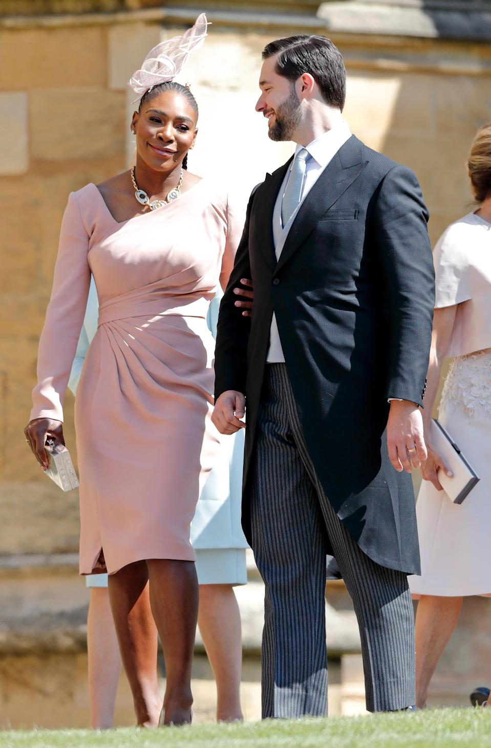 Serena sat pride of place near Meghan at her wedding to Prince Harry in 2018. Photo: Getty Images