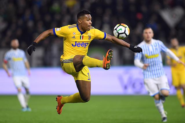 Soccer Football - Serie A - SPAL vs Juventus - Paolo Mazza, Ferrara, Italy - March 17, 2018 Juventus' Alex Sandro in action REUTERS/Alberto Lingria