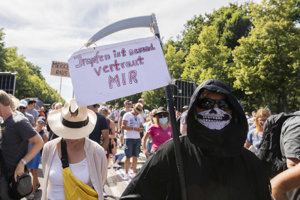 Berlin protest against coronavirus restrictions