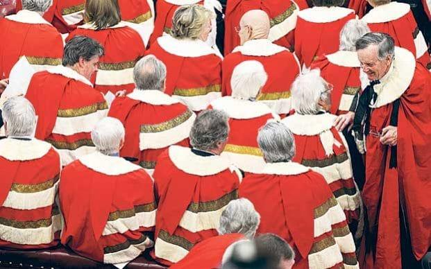 Peers in the House of Lords