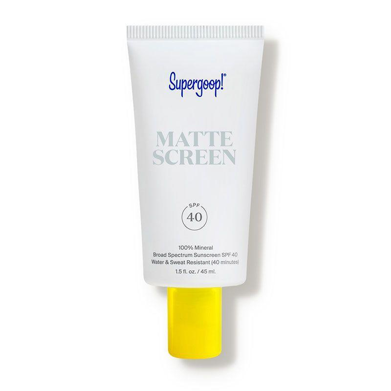 """<p><strong>Supergoop</strong></p><p>dermstore.com</p><p><strong>$30.40</strong></p><p><a href=""""https://go.redirectingat.com?id=74968X1596630&url=https%3A%2F%2Fwww.dermstore.com%2Fproduct_Mattescreen%2BSPF%2B40_77033.htm&sref=https%3A%2F%2Fwww.prevention.com%2Fbeauty%2Fskin-care%2Fg27632513%2Fbest-sunscreen-for-acne%2F"""" rel=""""nofollow noopener"""" target=""""_blank"""" data-ylk=""""slk:SHOP NOW"""" class=""""link rapid-noclick-resp"""">SHOP NOW</a></p><p>Save a step in your routine and <strong>use this SPF underneath your makeup for a pore-blurring finish</strong>. """"This mineral sunscreen is gentle, protects the skin, and acts like a primer,"""" says Dr. Zeichner. """"It absorbs oil, giving a matte appearance."""" Free of chemical filters and fragrances, the whipped texture sinks in quickly and perfects the complexion for a smoother, less bumpy appearance.</p>"""
