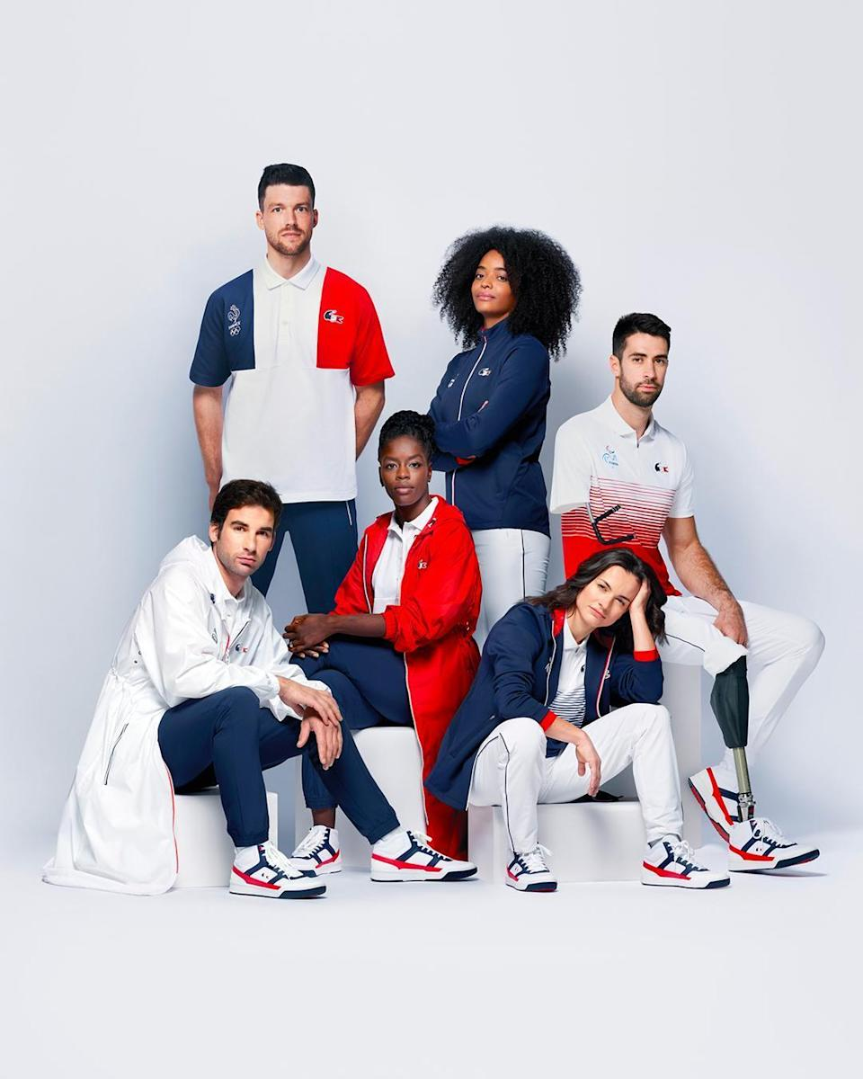 Lacoste and Le Coq Sportif's designs for Team France. - Credit: Courtesy of Lacoste