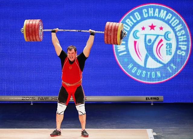 World champion weightlifter Aleksey Lovchev, who won gold in the +105kg category at the 2015 world championships, had tested positive for the banned growth hormone Ipamorelin (AFP Photo/Scott Halleran)