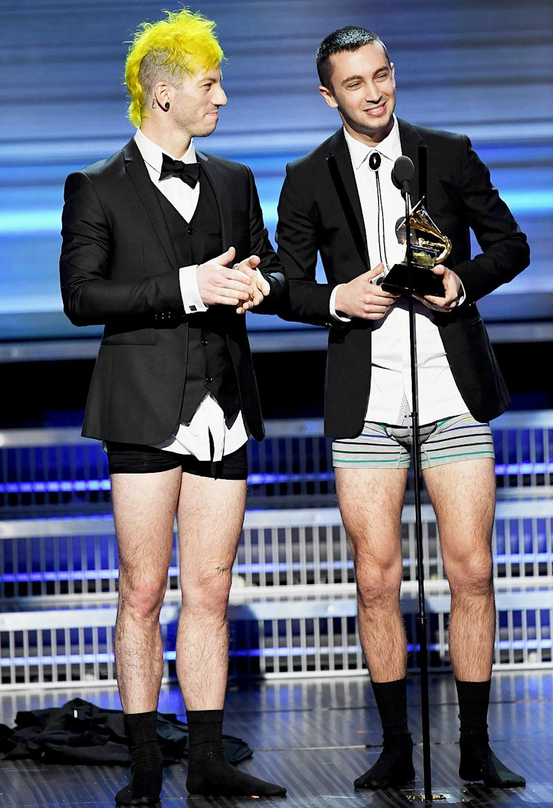 Grammys 2017 Most Awkward Moments From Twenty One Pilots